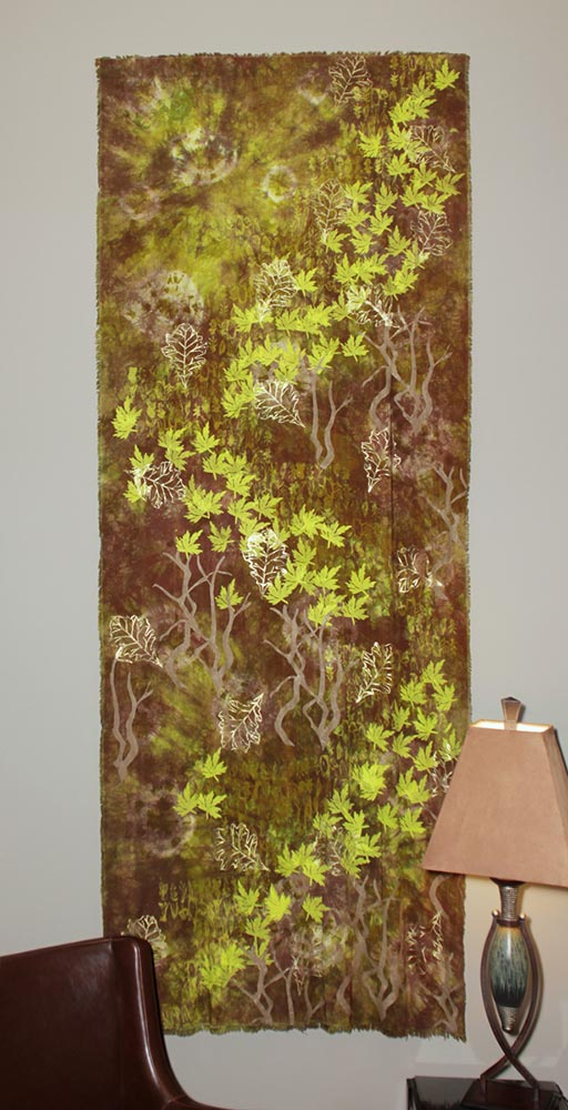 Fiber Art by Judy Saye-Willis | Natural - synthetic dyed crafted fabric