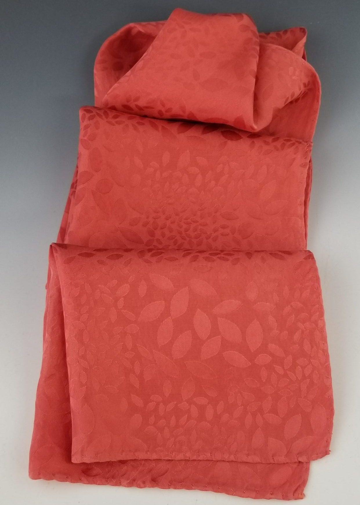 Red Jacquard Silk Scarf