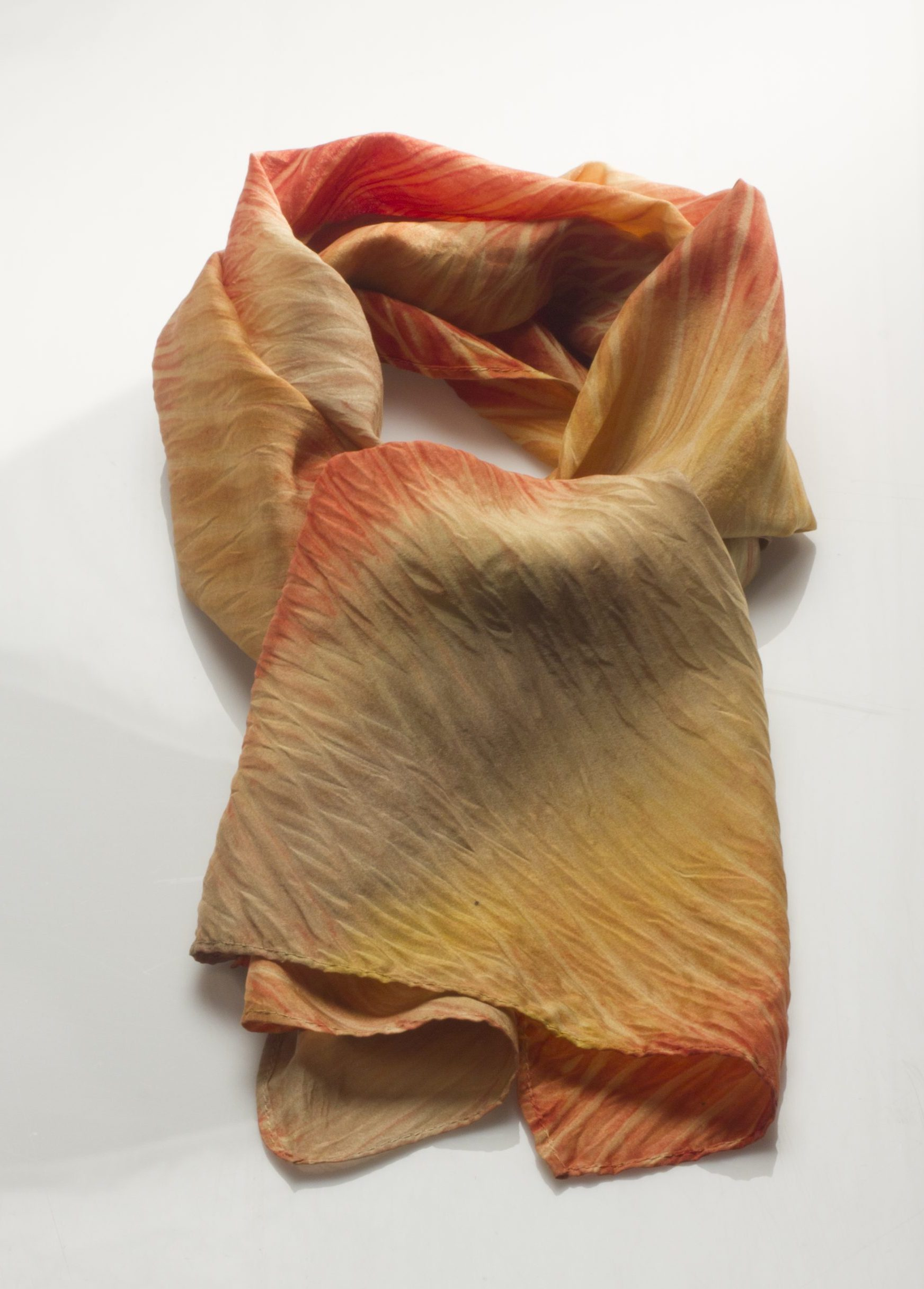 Arashi naturally dyed Habotai Silk Scarf