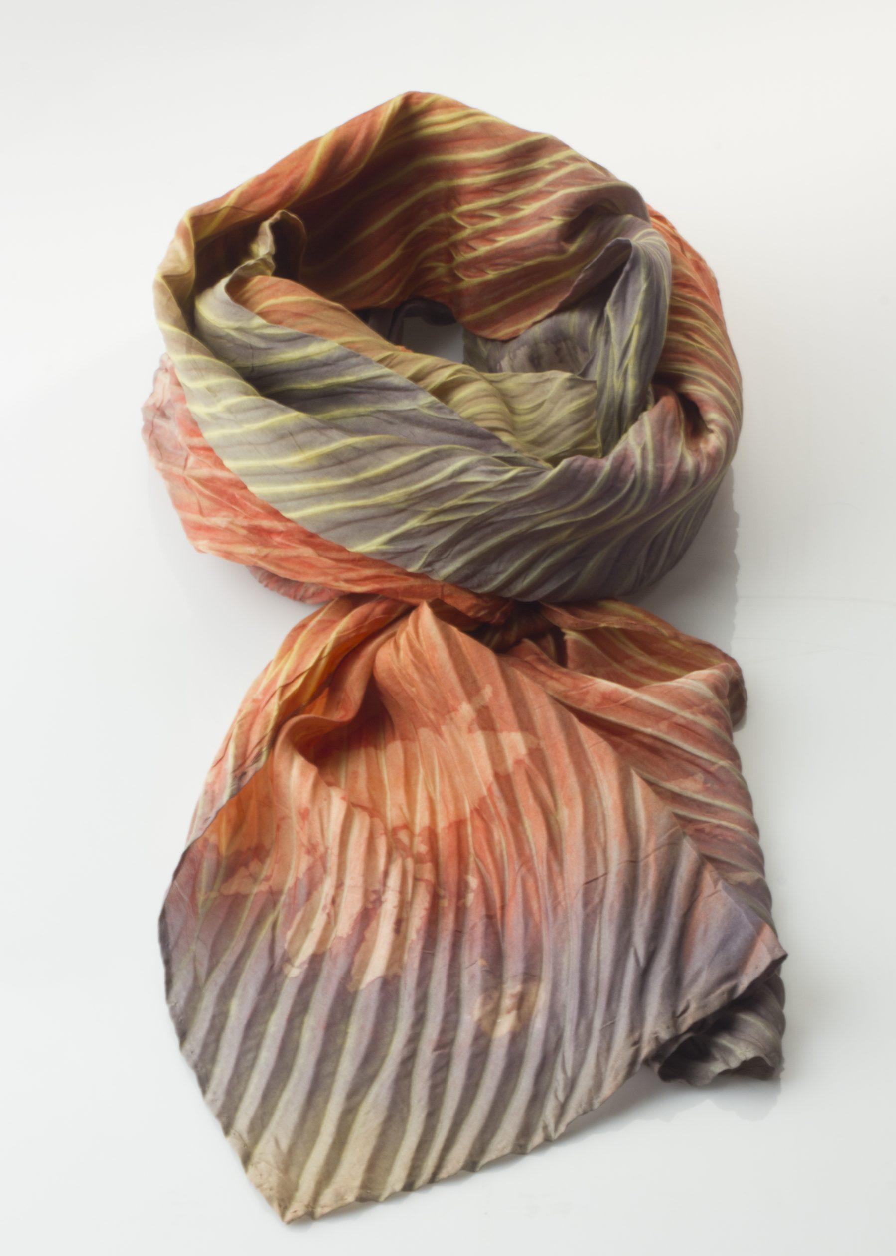 Arashi naturally dyed Habotai Silk Scarf